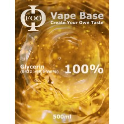 E-Liquido Base Foo Fluids 100% VG (500ml)