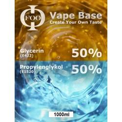 E-Liquid-Basis Floo Fluids 50%VG/50PG (1000 ml)