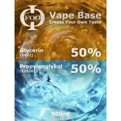 E-Liquido Base Foo Fluids 50%VG/50PG (500ml)
