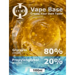 E-Liquido Base Foo Fluids 80%VG/20PG (1000ml)
