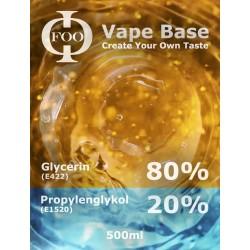E-Liquid-Basis Floo Fluids 80% VG / 20PG (500 ml)
