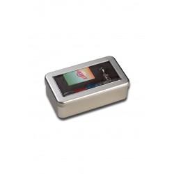 Pipa Jilter in Vetro con Box Metallo