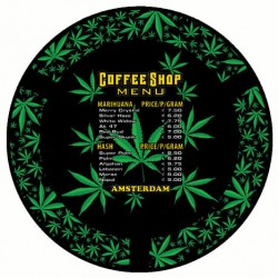Posacenere Amsterdam in Metallo 'Coffeeshop menu'