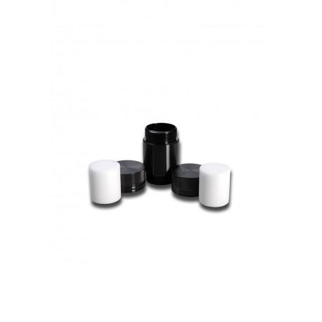 Press in Aluminum Black Leaf medium