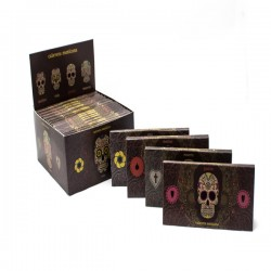 Snail Collection Sugar Skulls Unbleached + King Size Filters (With Magnet)