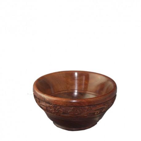engraved wooden bowls ( 10cm )