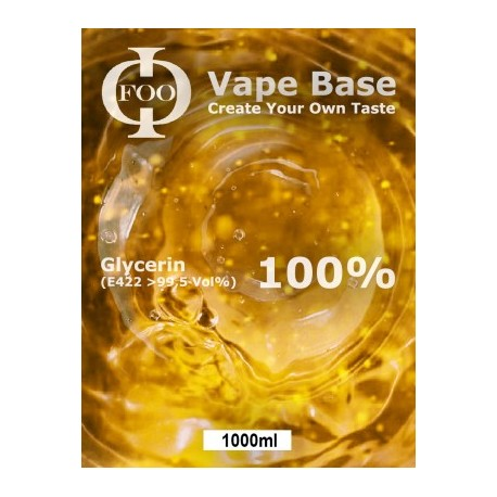E-Liquid Base Foo Fluids 100% VG (1000ml)