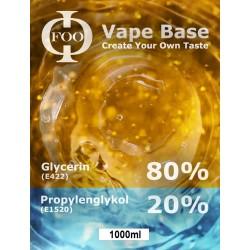 E-Liquide Base Foo Fluids 80% VG / 20PG (1000ml)