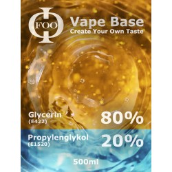 E-Liquid Base Foo Fluids 80% VG / 20PG (500ml)