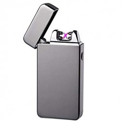 'Silvermatch Double' Silver Plasma lighter