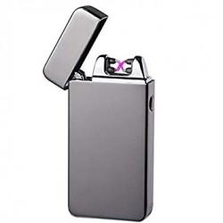 'Silvermatch Double' Silver Plasma lighter