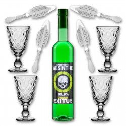 Absinthe 'Pure Exitus' Hardcore Set 70% (4 Glasses)