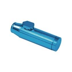 Dosierer aus blauem Aluminium