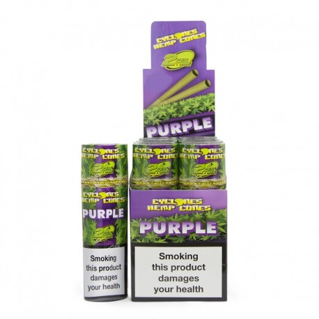 Pre-rolled Cyclones Hemp 'Purple' (2PZ)