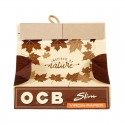 OCB Unbleached Virgin King Size Slim + Rolling Tray filters