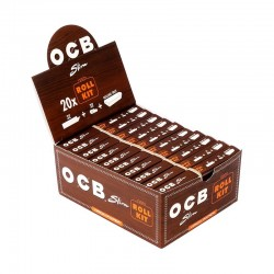OCB Unbleached Virgin King Size Slim + Rolling Tray filters Box