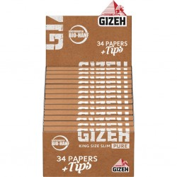 Gizeh Pure Organic King Size Slim + Filtres Box