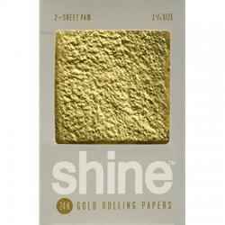 Shine 24 White 1 1/4 Medium Size 2 Cartine Gold Bianco