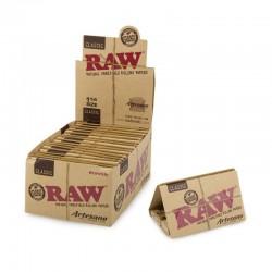 Raw Artesano Classic 1 1/4 Taille Moyenne + Filtre Box