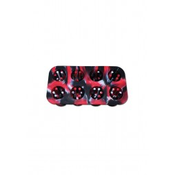 Silicone Smoke Cubes Ice Rosso