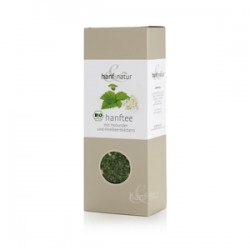 Hemp tea with elderberry