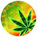 Ashtrays Neon Metal Leaf